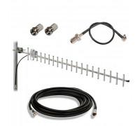 Антенна направленная 3G GSM Энергия 17дБ + кабель RG58 + переходник