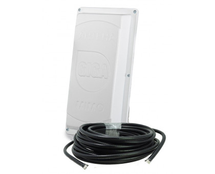 Комплект 4G панельная антенна LTE GIGA MIMO 2 x 15 дБ (1700-2700 МГц) с кабелем