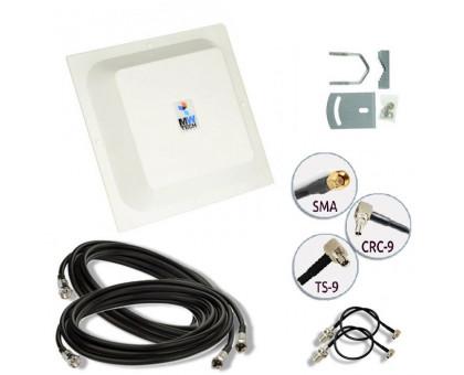 Комплект антенна MIMO 4G RNet КВАДРАТ 15 Дб  (1700-2700 мГц) кабель и переходники