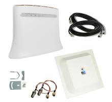 Комплект 4G WiFi роутер ZTE MF283U + 4G антенна MIMO 2x15 дБ + кабель  + переходники