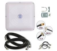 Комплект 3G/4G антенна MIMO 18 ДБ  (1700-2700 мГц) кабель и переходники