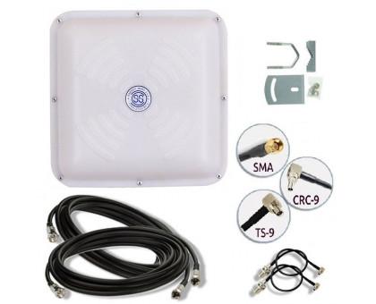 Комплект 3G/4G антенна MIMO LTE Energy 18 ДБ  (1700-2700 мГц) кабель и переходники