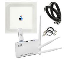 "Комплект интернет в селе ""Netis Максимум"" (WiFi роутер + 3G/4G модем + MIMO антенный комплект )"