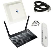 "Набор интернет за городом ""ASUS Безлимит"" (WiFi роутер + 3G/4G модем + MIMO антенный комплект )"