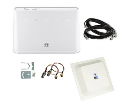 Комплект 4G WiFi роутер Huawei B310s-22 + 4G антенна MIMO 2x15 дБ + кабель + переходники