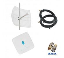 4G комплект WiFi роутер Alcatel HH70VB c антенной Kroks KNA 24 и кабелем