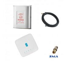 4G комплект WiFi роутер Alcatel HH70VB c антенной Razor 15 дБ и кабелем