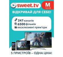 Лицензия на интернет ТВ и онлайн кинотеатра SWEET.TV M