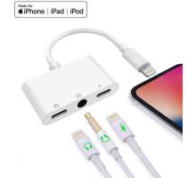 Переходник Apple Lightning 3 в 1 Dual Audio Lightning to 3.5mm with Charge Splitter