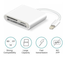 Адаптер Apple Lightning to SD/TF/CF for 3 in 1 for iPhone/iPad