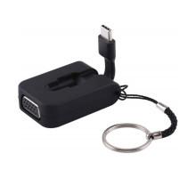 Адаптер VGA to USB-C Type-C Mini Adapter (Black)