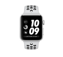 Apple Watch Nike+ Series 3 GPS Cellular 38mm Silver Aluminum Case With Pure Platinum Black Nike Sport Band (mqm72)