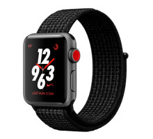 Apple Watch Nike+ Series 3 GPS + Cellular 38mm Space Gray Aluminum w. Black/Pure PlatinumSport L. (MQL82)