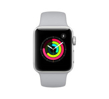 Apple Watch Series 3 (GPS) 38mm Silver Aluminum w. White Sport band (MTEY2)