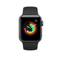 Apple Watch Series 3 (GPS) 42mm Space Gray Aluminum w. Black Sport B. - Space Gray (MTF32)