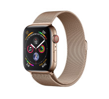 Apple Watch Series 4 GPS + LTE 40mm Gold Stainless Steel Case w. Gold Milanese Loop (MTVQ2)