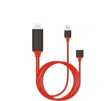 Адаптер Lightning to HDMI for iPhone/iPad Digital 1080P to 4K HDTV 2m (Red)