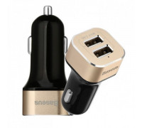 Baseus Smart voyage series Car Charger Black and Gold 2 USB 2.4 A