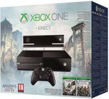 Стационарная игровая приставка Microsoft Xbox One + Assassin's Creed Unity