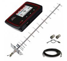 Комплект 3G/4G WiFi роутер Novatel 6620L + антенна 19 дБ + кабель RG-58U + переходник