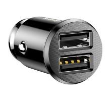 Автомобильное зарядное устройство Baseus Small Rice Grain 3.1А Black 2 USB (CCALL-ML01)