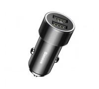 Автомобильное зарядное Baseus Small Screw 3.4A Dual-USB Car Charger Black (CAXLD-C01)
