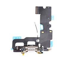 Шлейф iPhone 7 Plus с разъемом зарядки и аудио-разъемом белый
