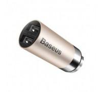 Baseus CarQ Series Dual USB Car Charger - Gold