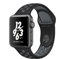 Apple Watch Nike+ 38mm Space Gray Case with Black/Cool Grey Nike Sport Band (MNYX2)